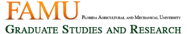 Florida A&M University (Graduate) online application menu