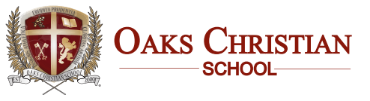 Oaks Christian School online application menu