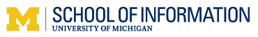 University of Michigan School of Information online application menu